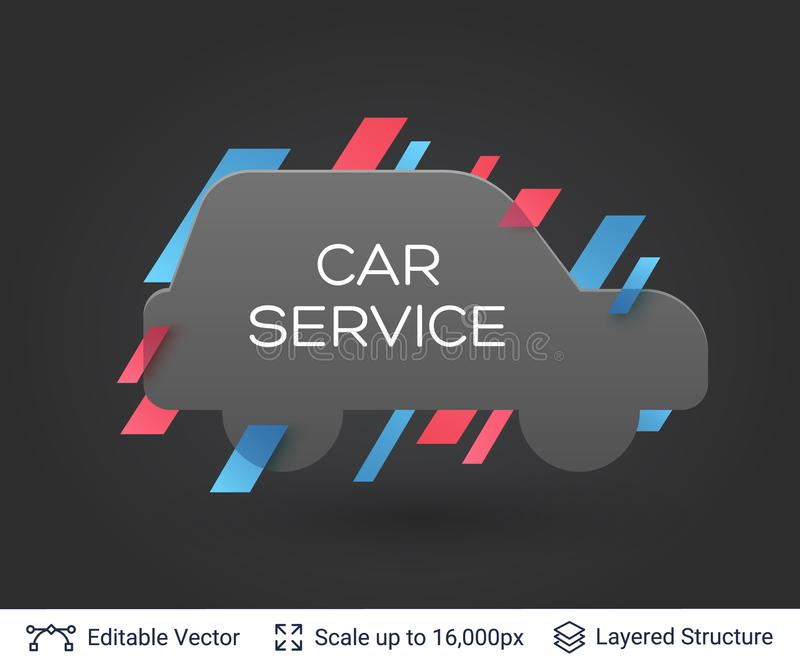 Download black badge car sticker stock vector illustration of auto 110406906