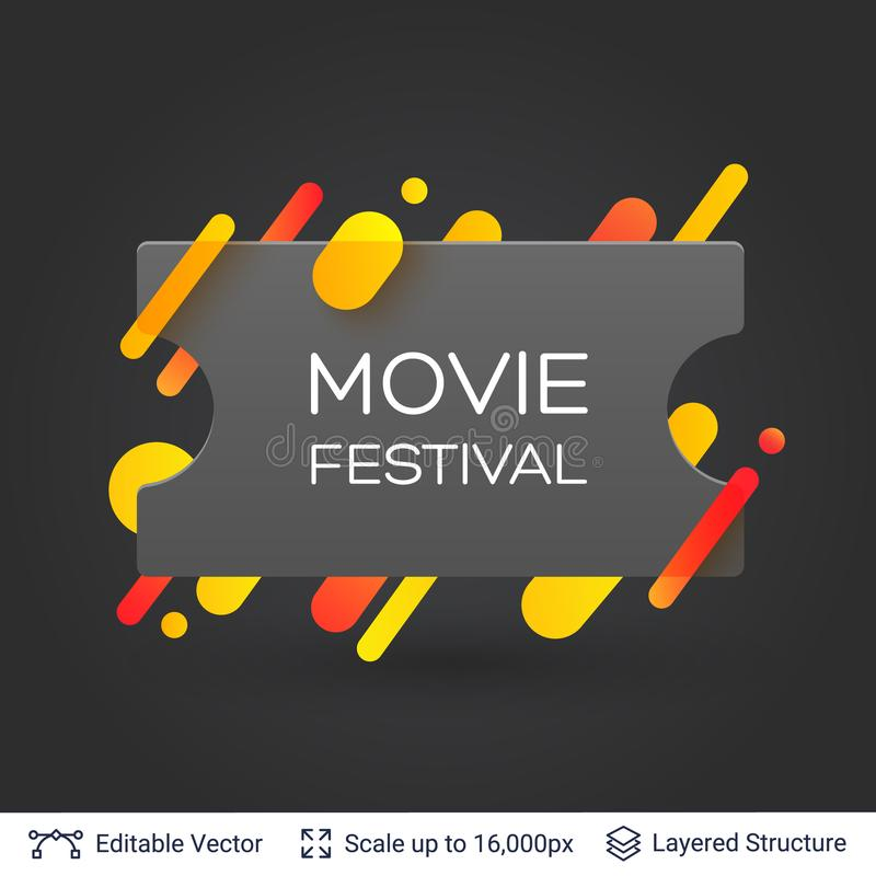 Download black badge cinema ticket sticker stock vector illustration of poster button