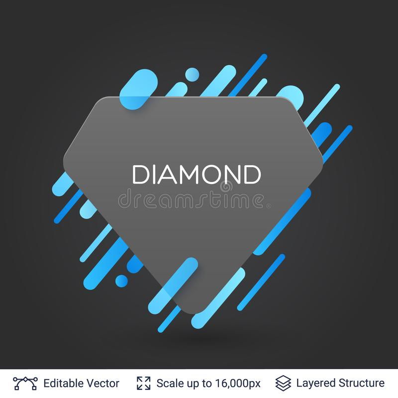 Download black badge diamond sticker stock vector illustration of simple abstract 110407066