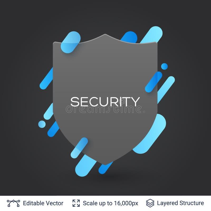 Download black badge shield silhouette sticker stock vector illustration of design badge