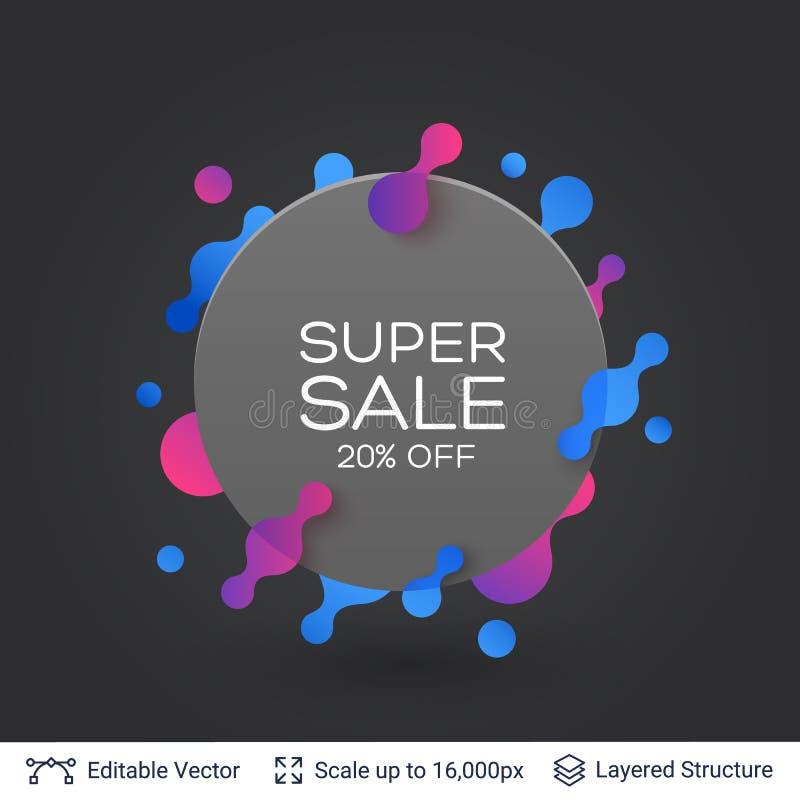Download black badge super sale sticker stock vector illustration of design retail