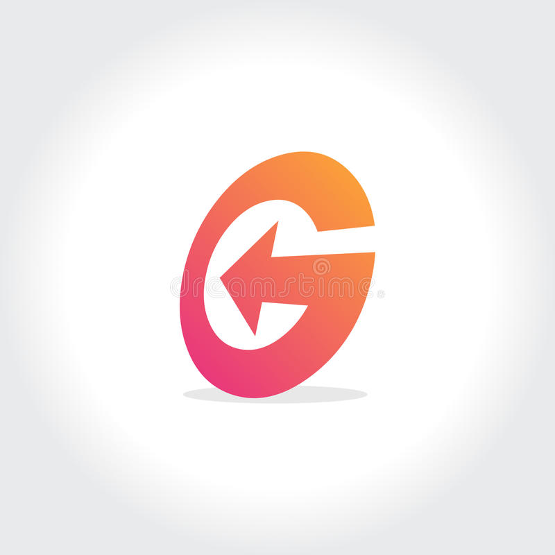 Stylish Letter G Symbol Creative Design Stock Vector Illustration