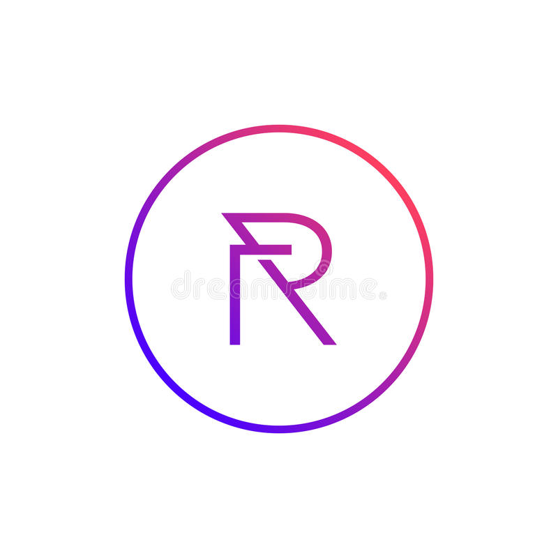 Stylish Letter R Symbol Creative Design Stock Vector Illustration