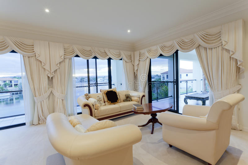 Download Stylish living room stock image. Image of beige, residential - 25041491