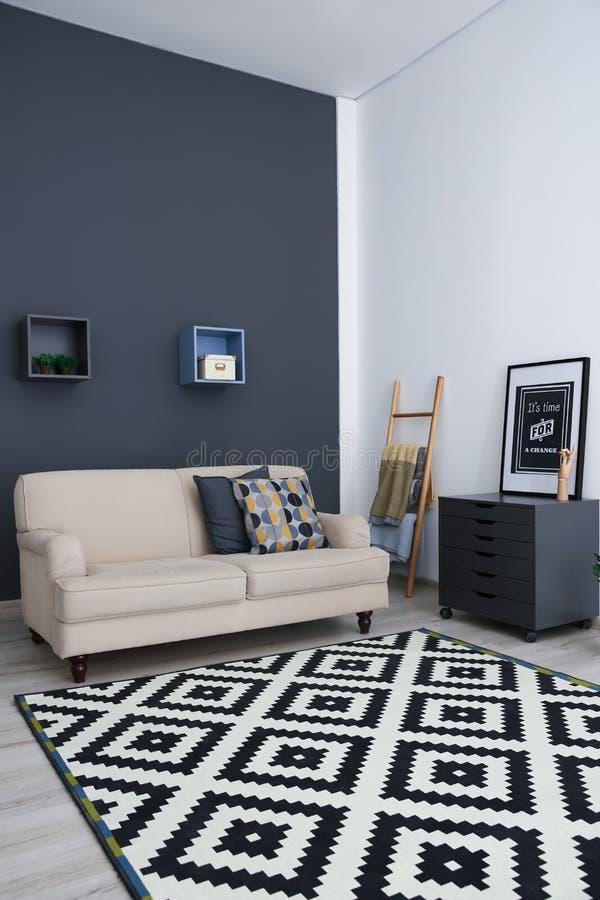 Stylish living room interior royalty free stock photos