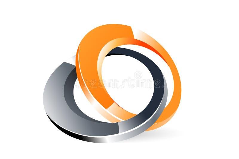 Stylish logo royalty free illustration