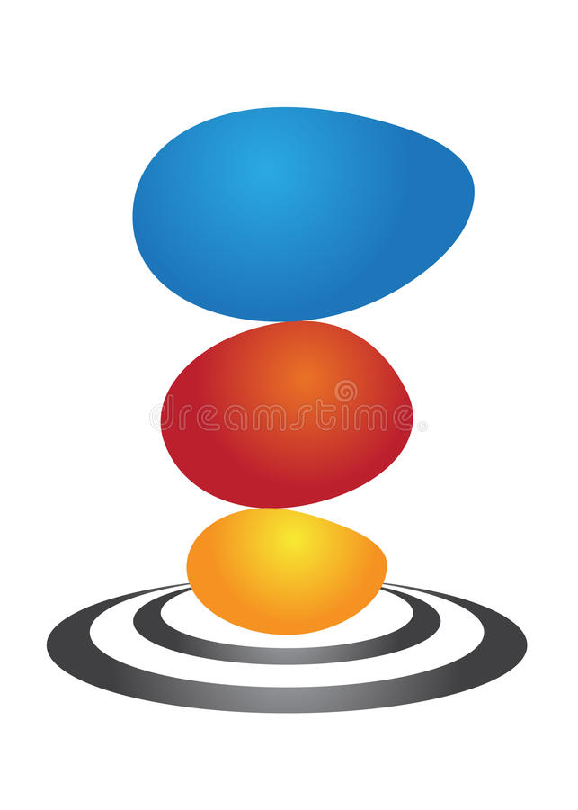 Stylish logo. Illustration of stylish logo design isolated on white background royalty free illustration