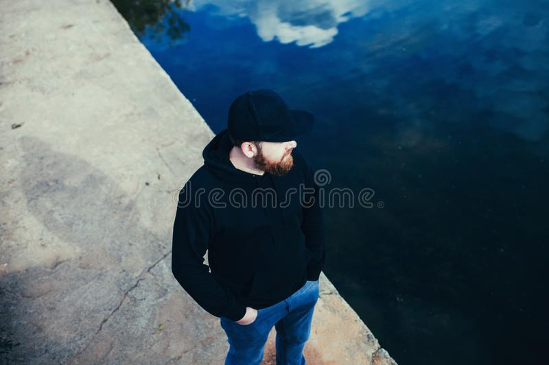 Stylish man in casual clothes stock image