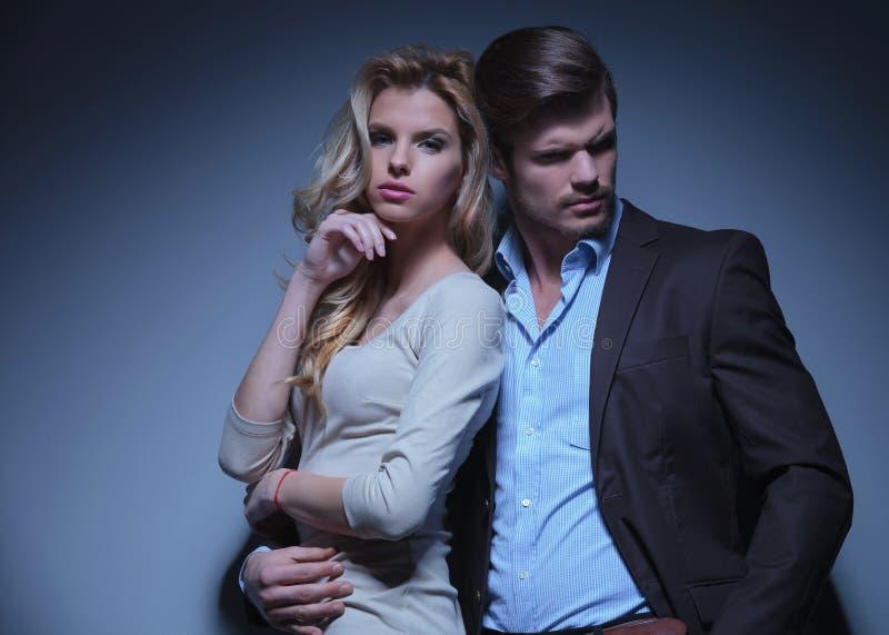 Stylish Man and Luxurious Woman stock photo
