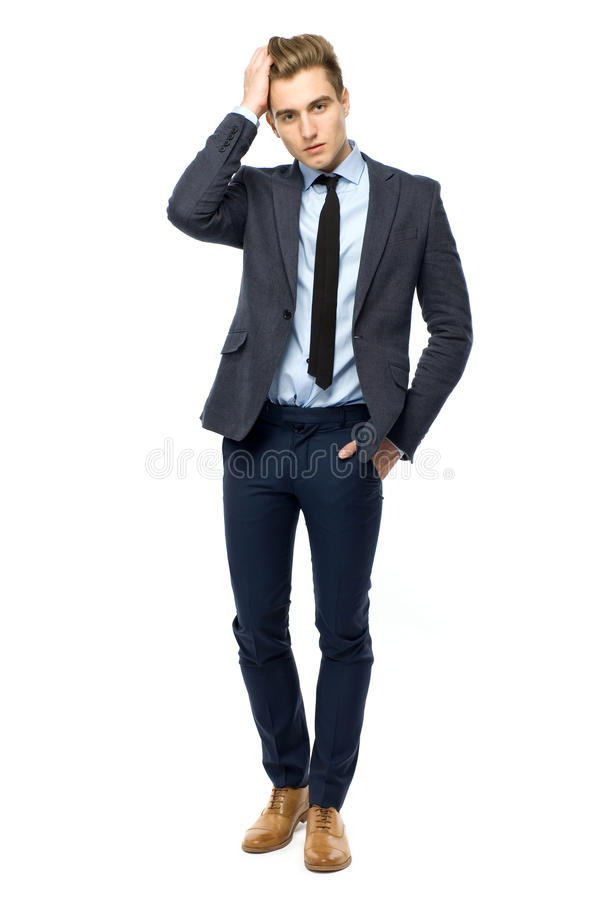 Download Stylish man wearing suit stock photo. Image of elegant - 23629982