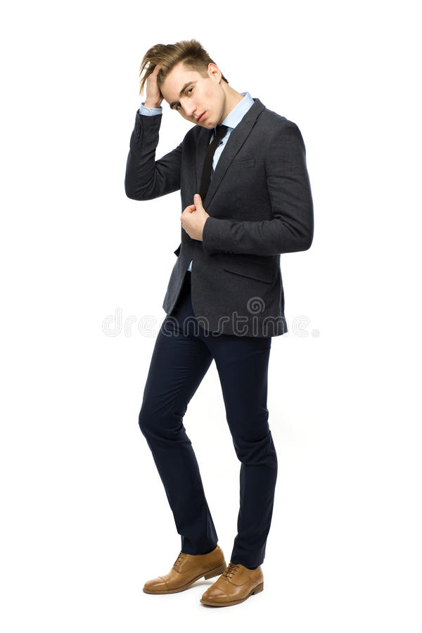 Download Stylish man wearing suit stock photo. Image of length - 23630078