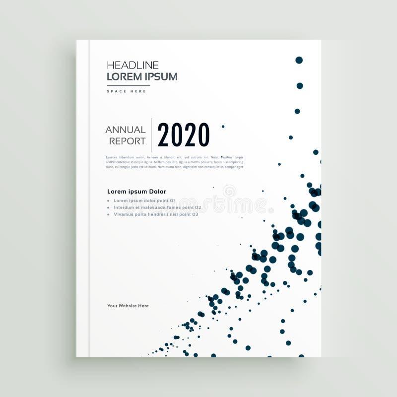 Stylish minimal dots abstract brochure design template vector illustration