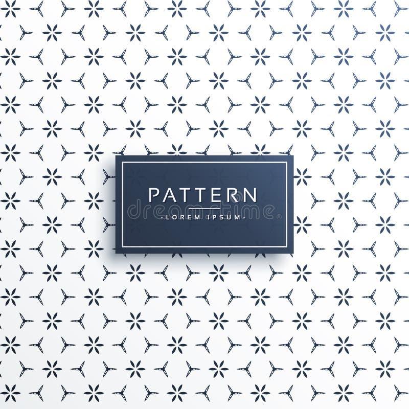 Stylish minimal flower abstract pattern background stock illustration