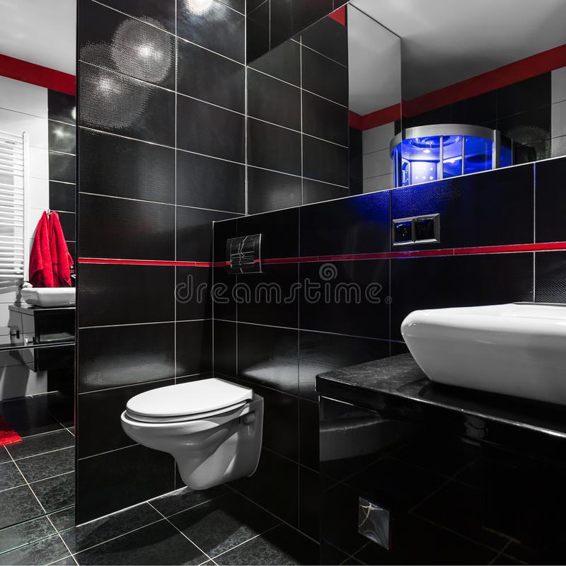 Stylish and modern bathroom royalty free stock photography