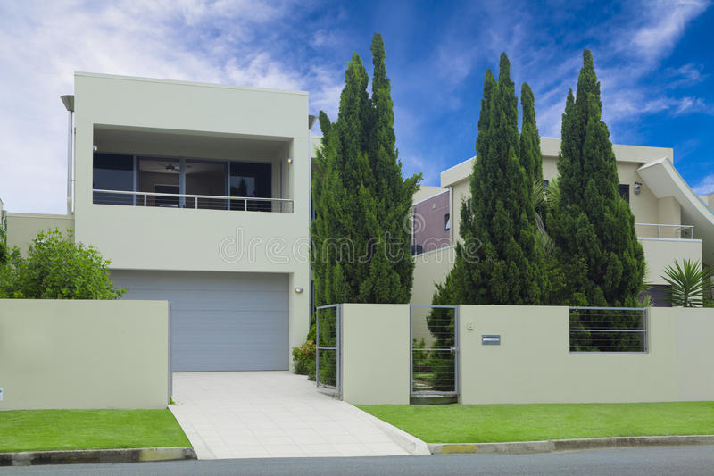 Stylish modern house front royalty free stock photography