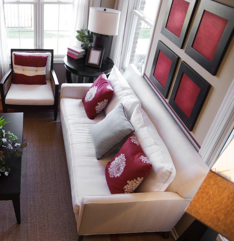 Stylish modern interior design royalty free stock photos