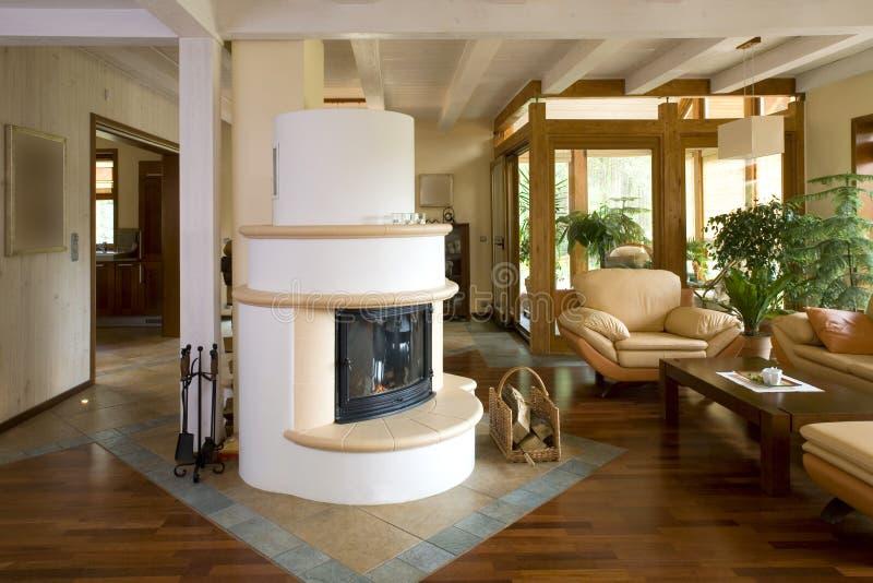 Stylish modern living room. royalty free stock photos