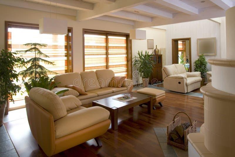 Stylish modern living room. stock photo