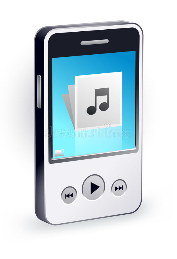 Stylish Mp3 Player Royalty Free Stock Images