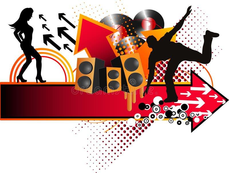 Stylish music background royalty free illustration