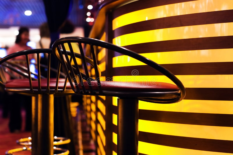 A stylish night bar stock photo