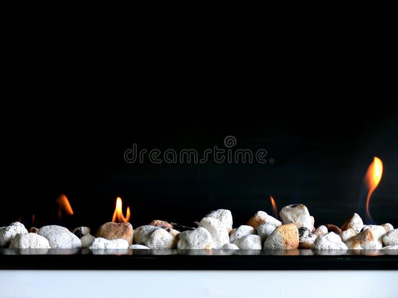 Download Stylish Open Fire stock photo. Image of dark, fireside - 24581086
