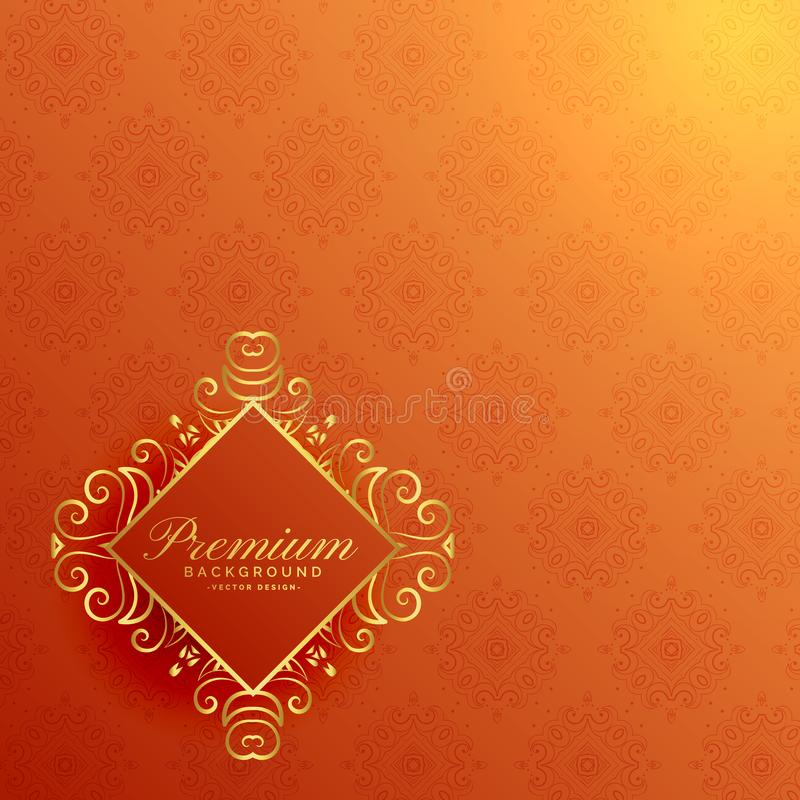 Stylish orange golden invitation background stock illustration