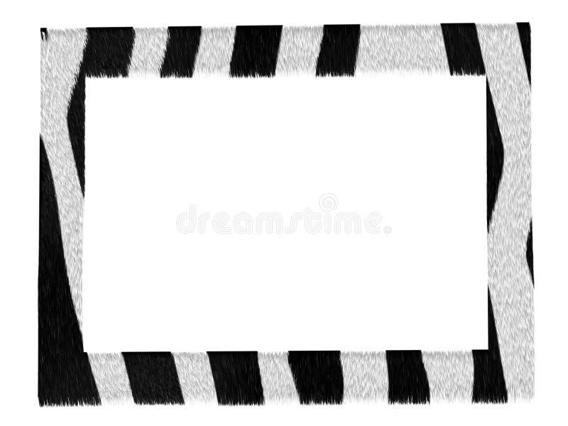 Stylish picture zebra pattern frame isolated stock illustration