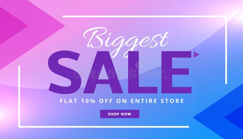 Stylish purple advertising sale banner voucher vector design vector illustration