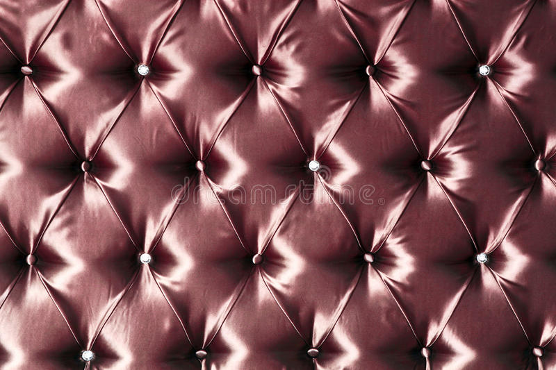 Stylish red silk upholstery stock photos