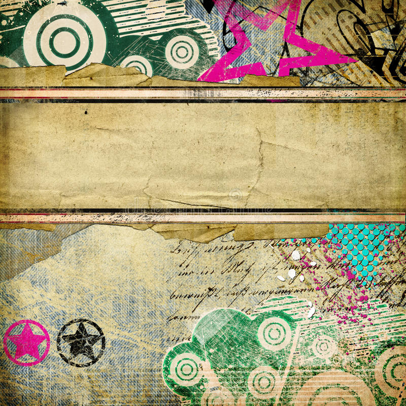 Download Stylish retro background stock image. Image of grunge - 17145945