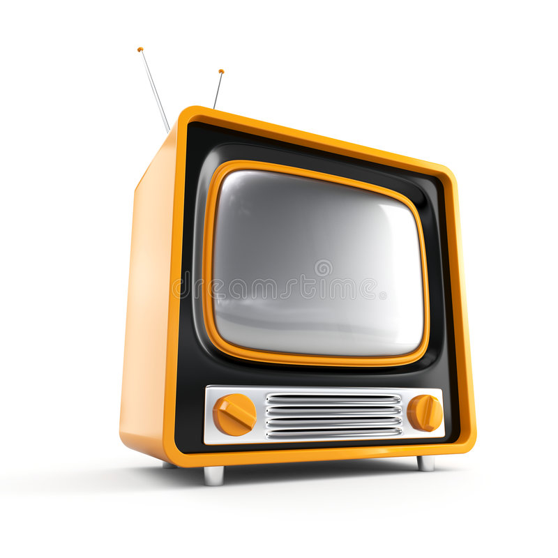 Free Stylish Retro TV Royalty Free Stock Photos - 4318368