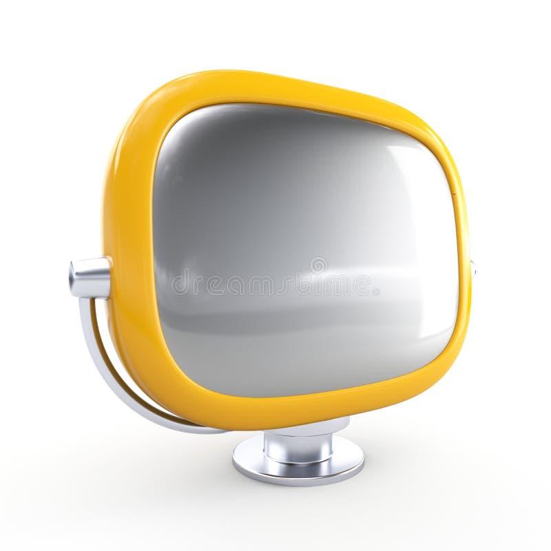 Stylish retro TV stock illustration