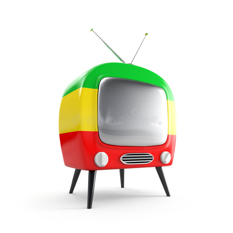 Stylish retro TV royalty free illustration