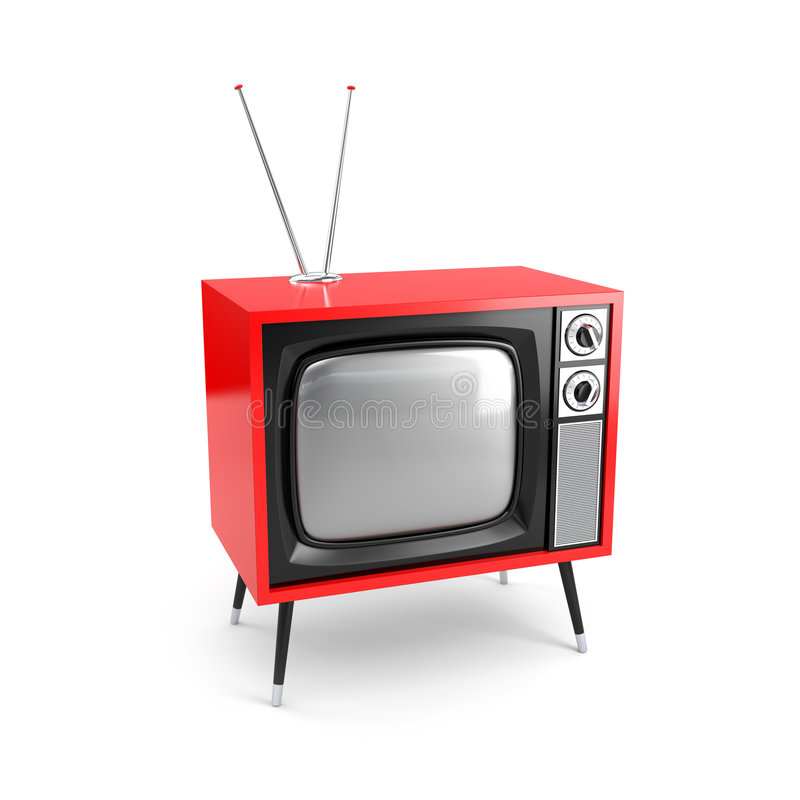 Stylish retro TV stock illustration