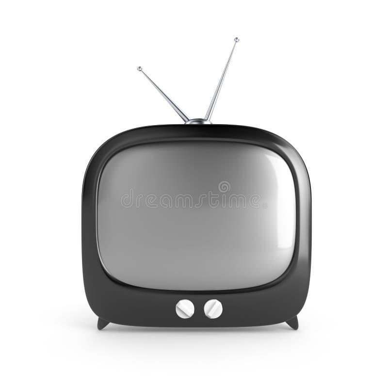 Stylish retro TV royalty free illustration