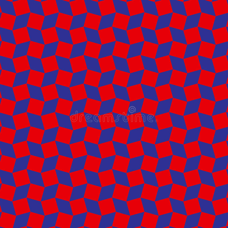 Stylish rhombus and square shapes seamless pattern of red and blue colors. Abstract stylish rhombus and square shapes seamless pattern of red and blue colors royalty free illustration