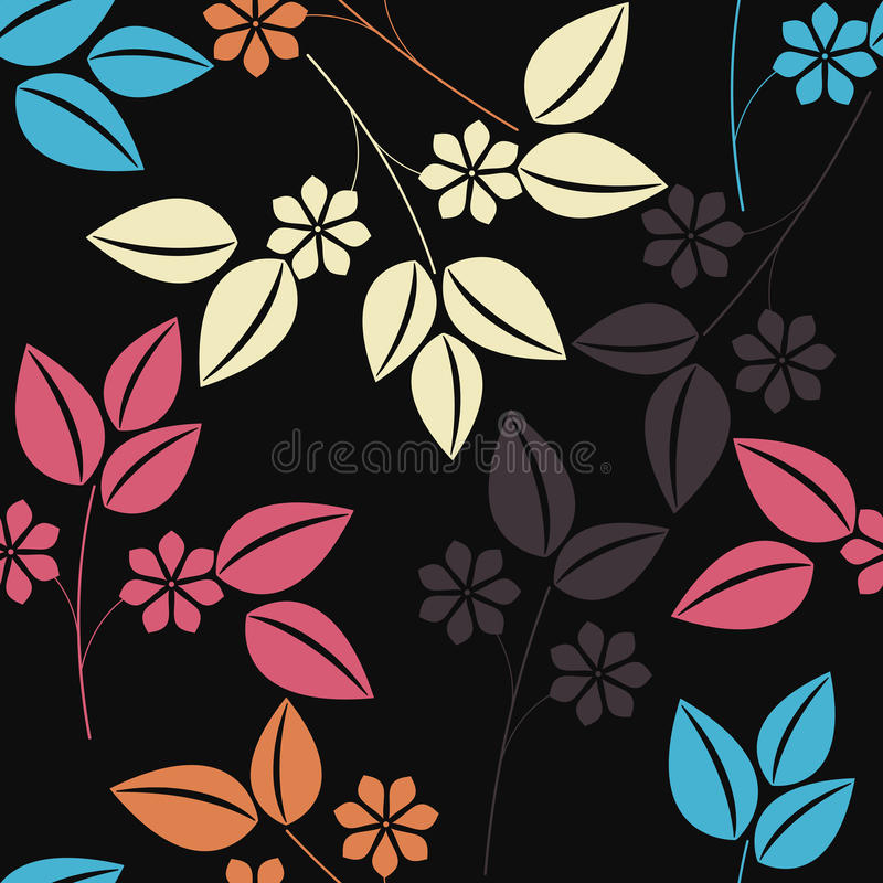 Stylish seamless pattern with colorful floral bouquet royalty free illustration