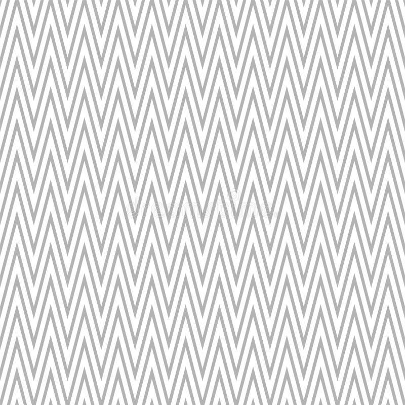 Stylish seamless zigzag pattern - trendy design. Geometric striped background. White and gray chevron texture royalty free illustration