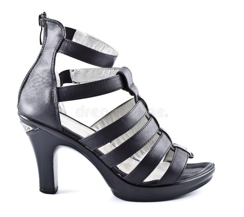 Stylish Shoes. Stylish high heels shoes isolated on white stock images