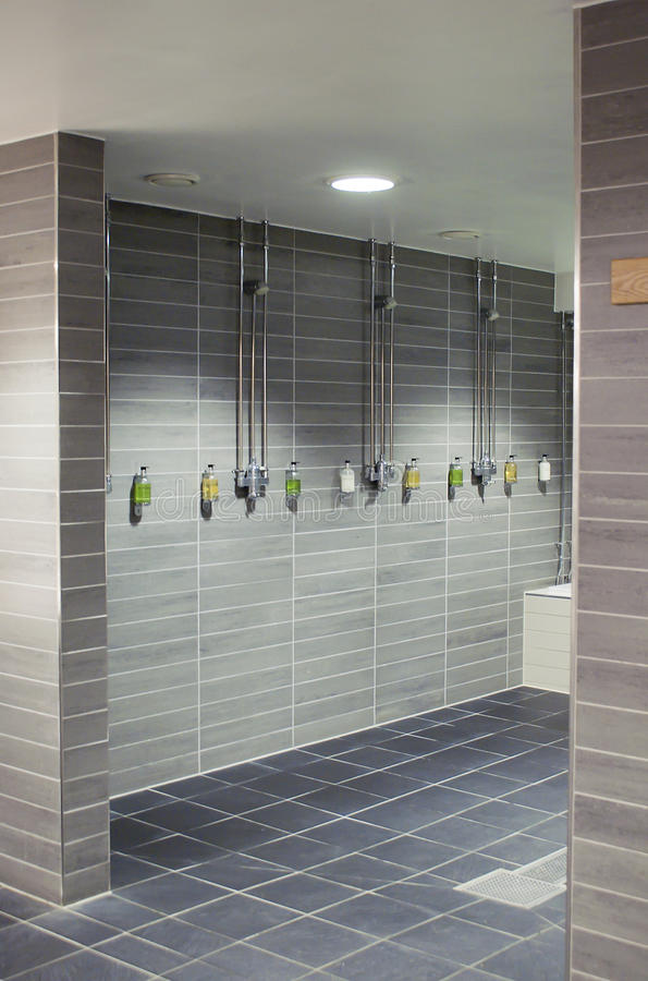 Download Stylish shower room stock photo. Image of clean, tiled - 30343630
