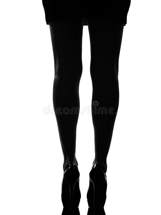 Download Stylish silhouette stock photo. Image of high, girl, rear - 21034428
