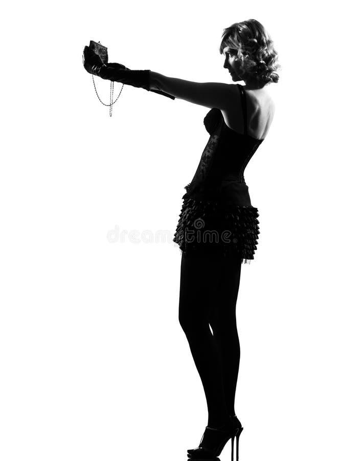 Stylish Silhouette Woman Royalty Free Stock Photos