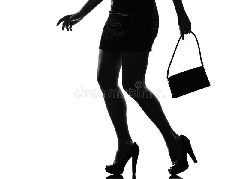 Download Stylish Silhouette Woman Legs Walking Stock Photo - Image: 23092358