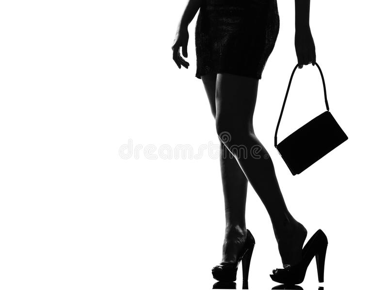 Download Stylish Silhouette Woman Tired Painful Feet Stock Photo - Image: 21034116