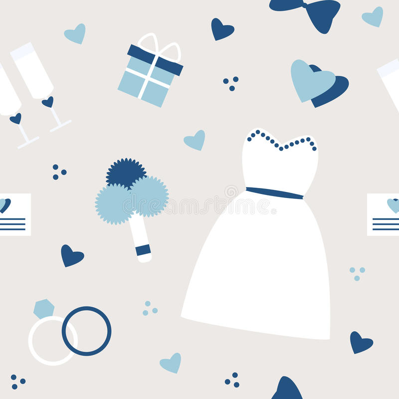Stylish simple wedding background in blue colors. Vector illustration vector illustration