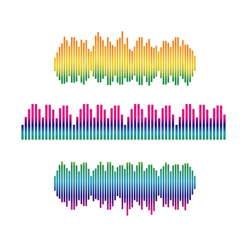 Stylish sound wave logo vector icon ilustration template design stock illustration