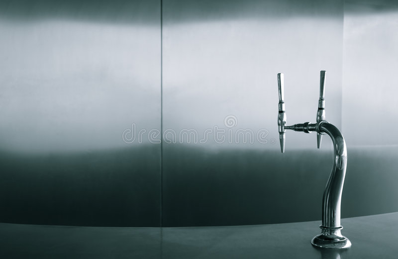 Stylish Spigot In Modern Bar Environment Stock Images