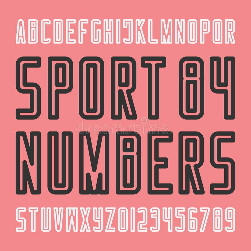 Download Stylish Sport Team Alphabet Letters And Numbers Stock Illustration