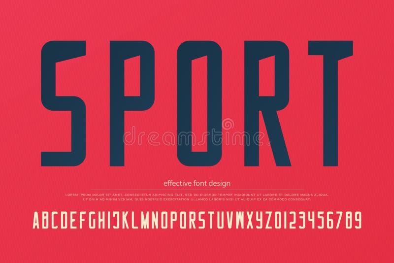 Stylish sport team alphabet letters and numbers. vector, sportive font type. Sans serif typeface design. retro, logo typesetting stock illustration